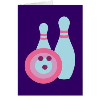 Carte Boule et goupilles de bowling