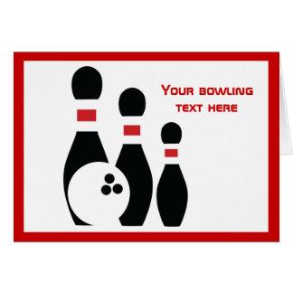 Carte Boule et goupilles de bowling faites sur commande