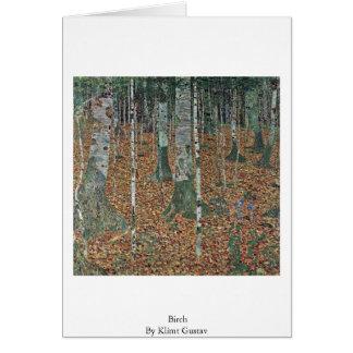 Carte Bouleau par Klimt Gustav