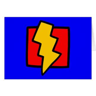 Carte Boulon de foudre bleu et jaune rouge