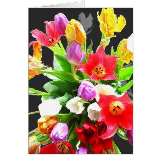 Carte Bouquet de tulipes