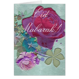 Carte Bouquet Eid Mubarak de roses