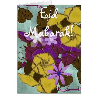 Carte Bouquet floral Eid Mubarak