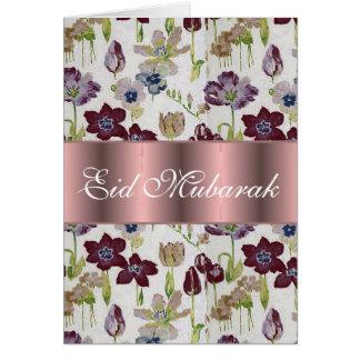 Carte Bouquet floral Eid Mubarak de tulipes