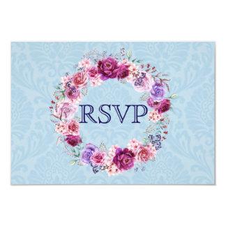 Carte Bouquet floral RSVP de rose et de Bourgogne