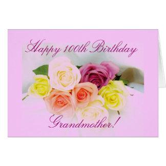 Carte Bouquet rose du 100th anniversaire de la