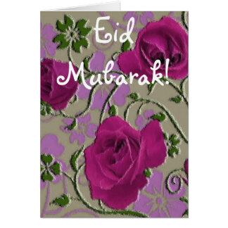 Carte Bouquet rose Eid Mubarak de roses