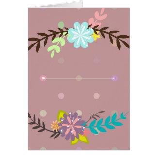 Carte Bouquets floraux