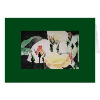Carte bourgeons roses