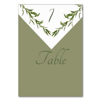 Carte Branche géométrique élégante de feuille de verdure