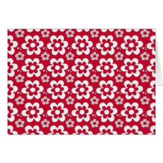 Carte branco de fin de support de COM Flores de vermelho