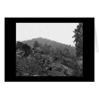 Carte Breastworks de Gettysburg sur le petit couvercle