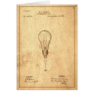 Carte Brevet d'ampoule d'Edison