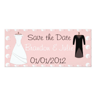 Carte Bride and Groom clothes save the date