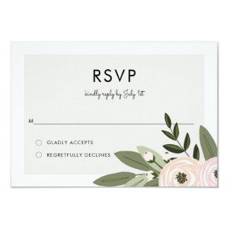 Carte Brins floraux RSVP de mariage