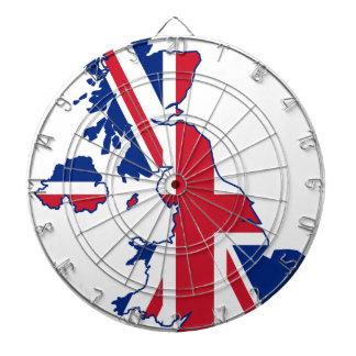 Carte BRITANNIQUE de drapeau Jeux De Fléchettes