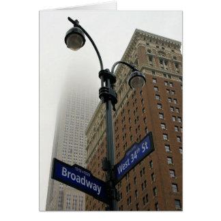 Carte Broadway et les trente-quatrièmes - nouvelle ville