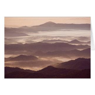 Carte Brouillard de matin dans l'Appalache du sud