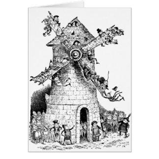 """Carte """"brownie"""" à un moulin à vent en Hollande"""