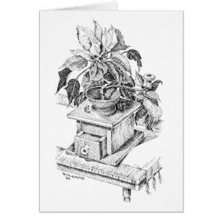 Carte Broyeur de poinsettia et de café