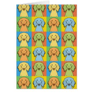 Carte Bruit-Art de bande dessinée de chien de Saluki,