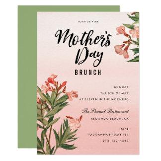 Carte Brunch floral de jour de mères d'aquarelle