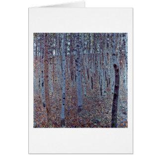 Carte Buchenhain par Gustav Klimt