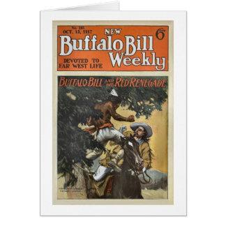 Carte Buffalo Bill 1917 hebdomadaire - le renégat rouge