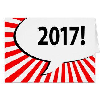 Carte bulle 2017 comique