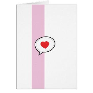 Carte Bulle d'amour