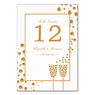 Carte Bulles de Champagne d'or épousant le Tableau non