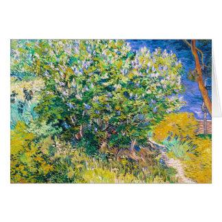 Carte Bush lilas par la peinture de Vincent van Gogh