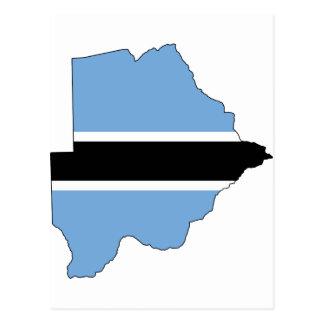 Carte BW de drapeau du Botswana