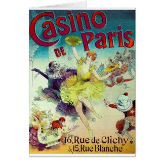 Carte Cabaret français Paris d'illustration vintage de