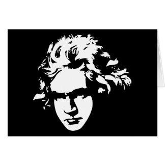 Carte Cadeau de Beethoven de compositeur de musique