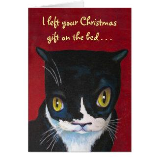 Carte Cadeau de Noël du chat