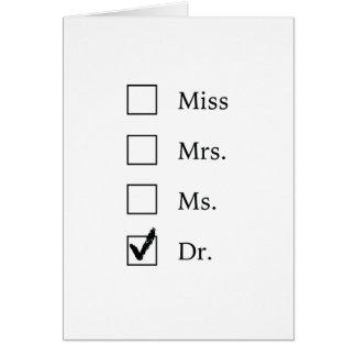 Carte Cadeaux de PhD pour des femmes