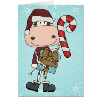 Carte Cadeaux de saison des vacances - Merci de vache