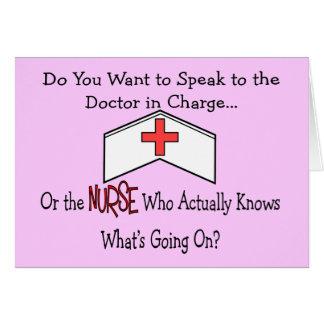 Carte Cadeaux drôles d'infirmière
