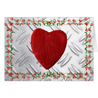 Carte Cadre de rose coeur