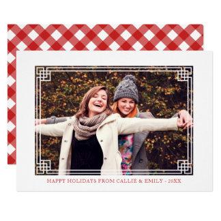 Carte Cadre décoratif - bonnes fêtes photo