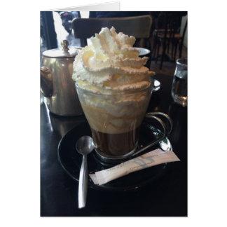 Carte Café Viennois - un bon nombre de crème fouettée |