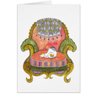 Carte Calicot dans la chaise