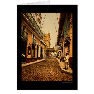 Carte Calle de Habana à La Havane, Cuba 1900