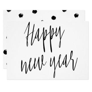 "Carte Calligraphie chic moderne ""bonne année """