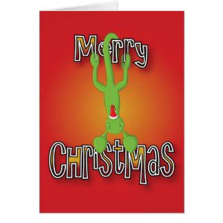 Carte caméléon - escalade - Joyeux Noël