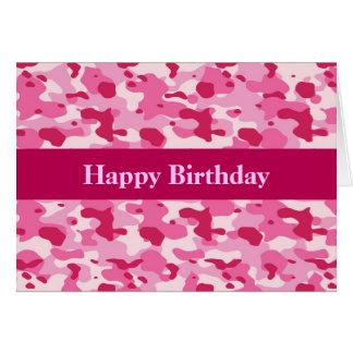 Carte Camouflage rose