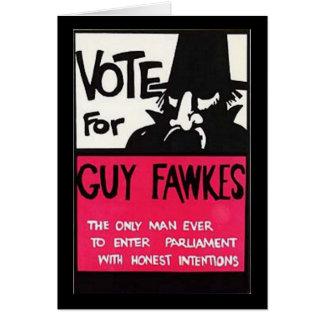 Carte Campagne de Guy Fawkes