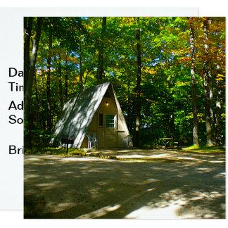 Carte Camper dans un cabine d'Un-Cadre