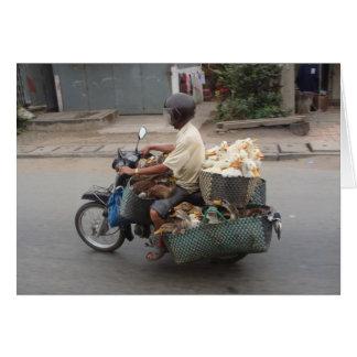 Carte Canards sur le motocyclette-Vietnam